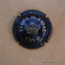 Coleccionismo de cava: PLACA DE CAVA FUCHS DE VIDAL. CHAPA. Lote 34991717