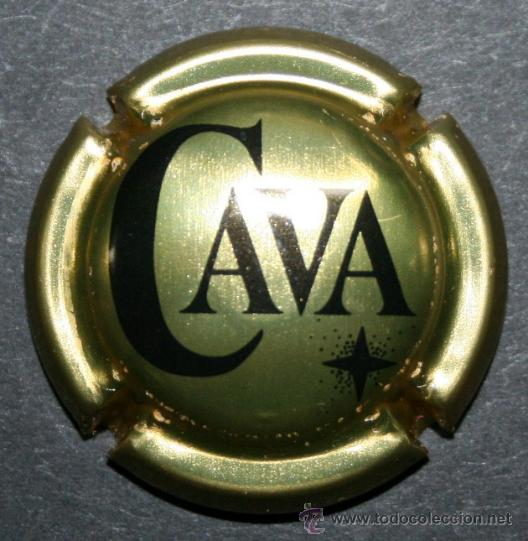 PLACA DE CAVA - CAVA - DORADO BRILLANTE (Coleccionismo - Botellas y Bebidas - Cava)