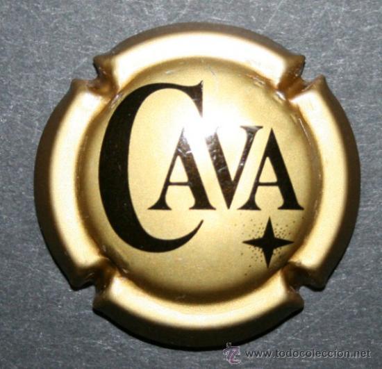 PLACA DE CAVA - CAVA - DORADO MATE (Coleccionismo - Botellas y Bebidas - Cava)