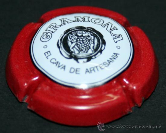 PLACA DE CAVA - GRAMONA - CORONA ROJA (Coleccionismo - Botellas y Bebidas - Cava)