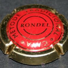 Coleccionismo de cava: PLACA DE CAVA - RONDEL - ROJO Y DORADO. Lote 36956439