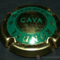 Coleccionismo de cava: PLACA DE CAVA - RONDEL - VERDE Y DORADO. Lote 35440678