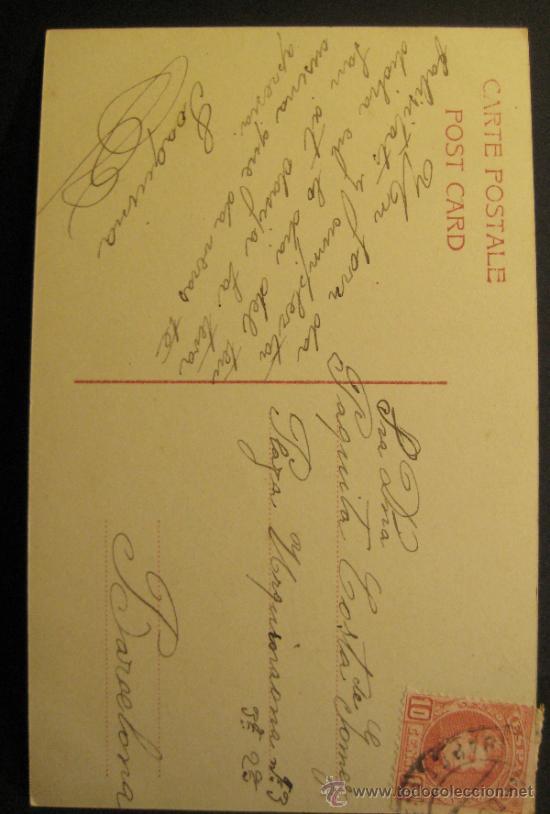 Coleccionismo de cava: CHAMPAGNE R. MERCIER. Nº 261/4. CIRCULADA EN 1907 - Foto 3 - 35877767