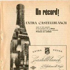Coleccionismo de cava: PÁGINA PUBLICIDAD ORIGINAL *EXTRA CASTELLBLANCH* AGENCIA DANIS - AÑO 1959. Lote 36716655