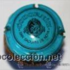 Coleccionismo de cava: TAPON CON PLACA DE CAVA CODORNIU AZUL RARA. Lote 38369660