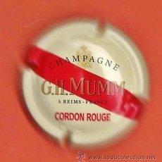 Coleccionismo de cava: PLACA / CHAPA CAVA - CHAMPAGNE G.H. MUMM - CORDON ROUGE - FRANCIA. Lote 38669445
