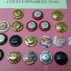 Coleccionismo de cava: LOTE DE 19 CHAPAS DE CAVA DE VARIAS MARCAS PLACAS. Lote 38928088