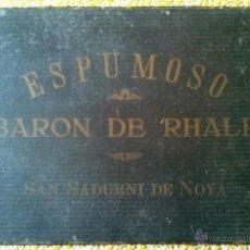 Coleccionismo de cava: CARPETA ESCRITORIO ESPUMOSO BARON DE RHALP SAN SADURNI DE NOYA 1915. Lote 42113495