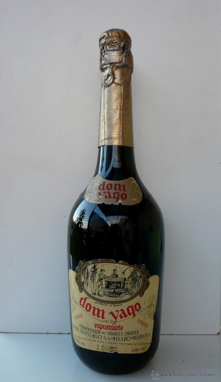 BOTELLA VINTAGE DOM YAGO - RIOJA SANTIAGO - HARO VINO ESPUMANTE ROSADO (Coleccionismo - Botellas y Bebidas - Cava)