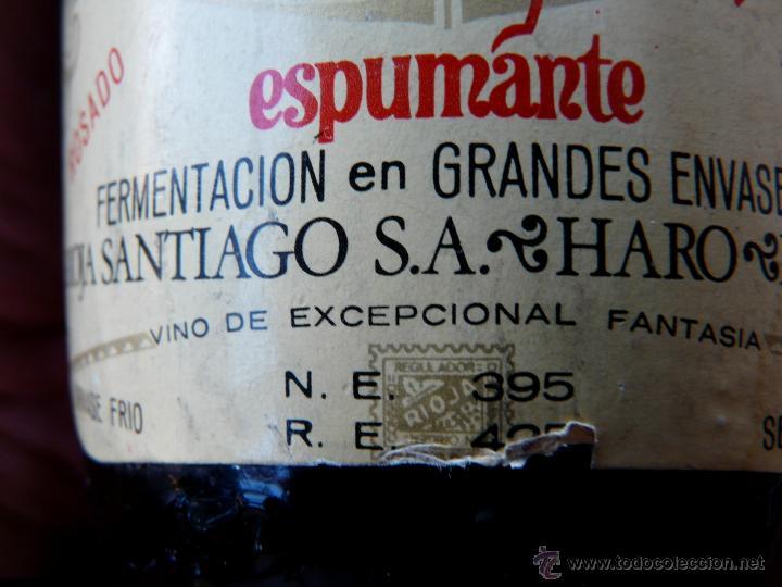 Coleccionismo de cava: BOTELLA VINTAGE DOM YAGO - RIOJA SANTIAGO - HARO VINO ESPUMANTE ROSADO - Foto 2 - 53089636