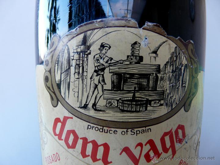 Coleccionismo de cava: BOTELLA VINTAGE DOM YAGO - RIOJA SANTIAGO - HARO VINO ESPUMANTE ROSADO - Foto 19 - 53089636