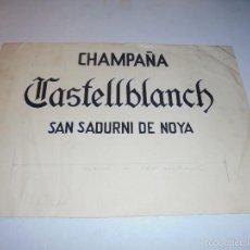 Coleccionismo de cava: CHAMPAÑA CASTELLBLANCH SAN SADURNI DE NOYA , ANTIGUO - DIBUJO ORIGINAL A PLUMA PARA REALIZAR SU PUBL. Lote 55115986