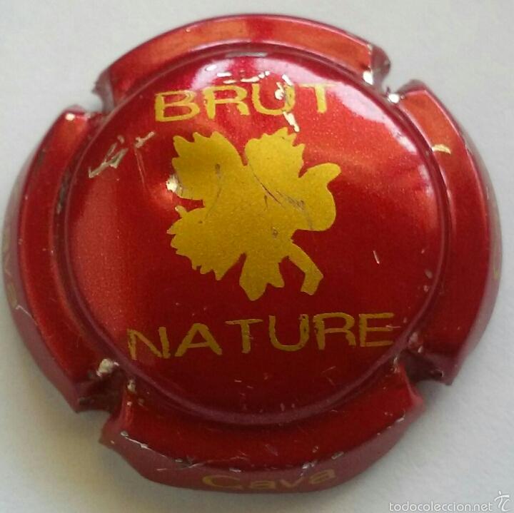 PLACA CAVA BRUT NATURE (Coleccionismo - Botellas y Bebidas - Cava)