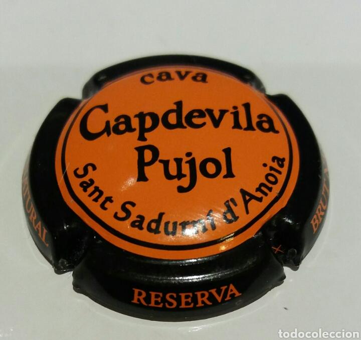 PLACA DE CAVA CAPDEVILA PUJOL (Coleccionismo - Botellas y Bebidas - Cava)