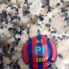 Coleccionismo de cava: CHAPA CAVA FUTBOL CLUB BARCELONA BONET OLIVELLA 0 - 2 PI XAVI. Lote 69717709
