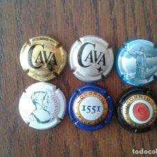 Coleccionismo de cava: LOTE DE 6 CHAPAS DE CAVA. Lote 78493473