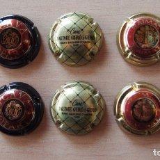 Coleccionismo de cava: LOTE 6 PLACAS CAVA. JAUME GIRÓ (2), RAIMAT (2) Y LLOPART (2). VER FOTOGRAFIAS PLACA CHAPA. Lote 79958417