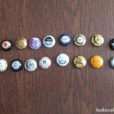 Coleccionismo de cava: LOTE DE 16 CHAPAS DE CAVA. Lote 101791839