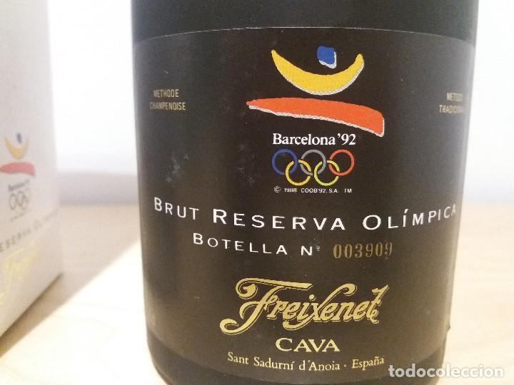BOTELLA CAVA FREIXENET OLIMPIADAS'92 (ED. LIMITADA) CON CHAPA COBI (Coleccionismo - Botellas y Bebidas - Cava)