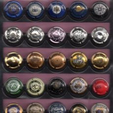 Coleccionismo de cava: 30 CHAPAS DE CAVA DIFERENTE EXTRANJERAS . Lote 109716875