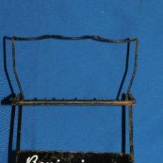 Coleccionismo de cava: (M) EXPOSITOR ANTIGUO - BENJAMIN CODORNIU , AÑOS 60 , 27 X 20 CM, SEÑALES DE USO. Lote 112907647