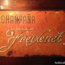 Coleccionismo de cava: CARTEL CHAPA ANTIGUO FREIXENET . Lote 113352935