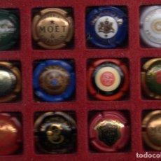 Coleccionismo de cava: DOCE CHAPAS DE CAVA EXTRANJEROS . Lote 113819535