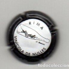 Coleccionismo de cava: PLACA DE CAVA VINICOLA DE NULLES RIMA FIRMADA. Lote 115509123