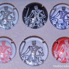 Coleccionismo de cava: 6 CHAPAS CHAMPAGNE TAITTINGER, HAY UNA MAS GRANDE MAGNUM. Lote 117102479