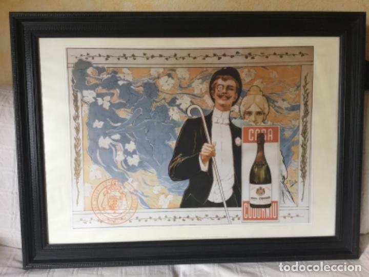 CARTEL DE ENORMES DIMENSIONES, CAVA CODORNIU. CONCURSO DE CARTELES 1898 (Coleccionismo - Botellas y Bebidas - Cava)