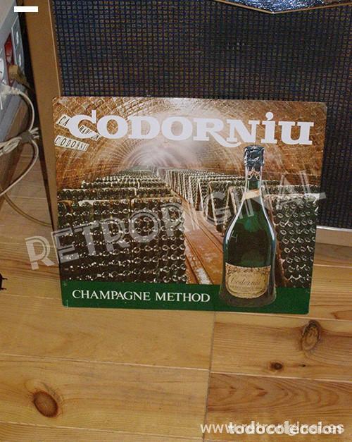 Coleccionismo de cava: Cartel Metálico Cavas Codorniu. Champagne Method. Original - Foto 6 - 116219643
