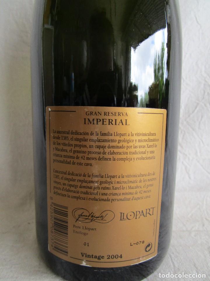 Coleccionismo de cava: botella cava llopart gran reserva vintage 2004 - Foto 3 - 129387039