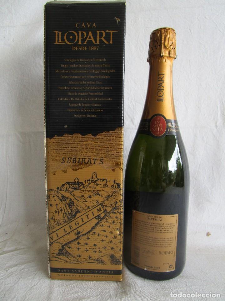 Coleccionismo de cava: botella cava llopart gran reserva vintage 2004 - Foto 4 - 129387039