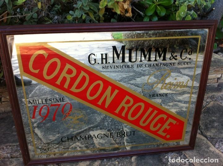 ESPEJO CHAMPAGNE BRUT CORDON ROUGE 75 CL. GH MUMM & CO. REIMS. (Coleccionismo - Botellas y Bebidas - Cava)