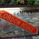 Coleccionismo de cava: ESPEJO CHAMPAGNE BRUT CORDON ROUGE 75 CL. GH MUMM & CO. REIMS.. Lote 149895018