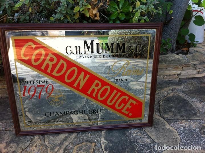 Coleccionismo de cava: Espejo Champagne Brut Cordon Rouge 75 cl. GH Mumm & Co. Reims. - Foto 2 - 149895018