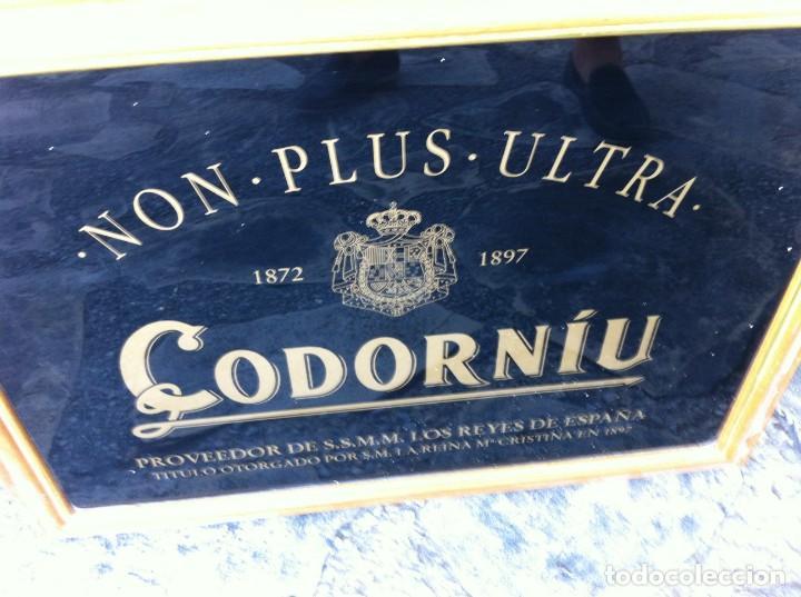 ESPEJO CAVA CODORNIU NON PLUS ULTRA. ANTIGUO. (Coleccionismo - Botellas y Bebidas - Cava)
