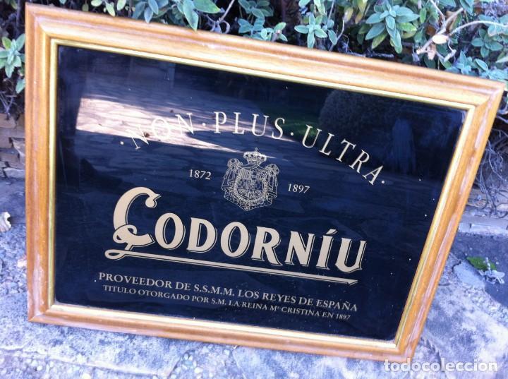 Coleccionismo de cava: Espejo Cava Codorniu Non Plus Ultra. Antiguo. - Foto 2 - 130017979