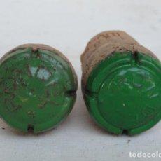 Coleccionismo de cava: 2 CHAPAS DE CAVA CON CORCHO RONDEL.. Lote 134126418