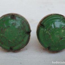Coleccionismo de cava: 2 CHAPAS DE CAVA CON CORCHO RONDEL.. Lote 134126542