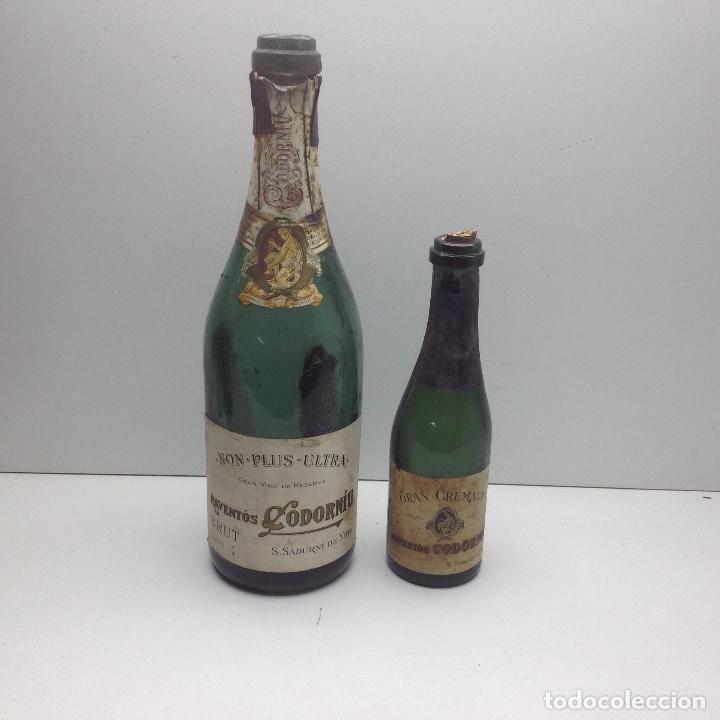 LOTE ANTIGUAS BOTELLAS DE CAVA - BOTELLAS VACIA - CODORNIU , DE LAS PRIMERAS (Coleccionismo - Botellas y Bebidas - Cava)