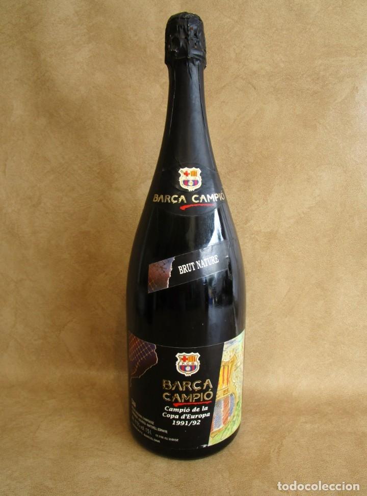 BOTELLA CAVA BARÇA CAMPEON COPA EUROPA 1991 1992 1,5 LITROS (Coleccionismo - Botellas y Bebidas - Cava)