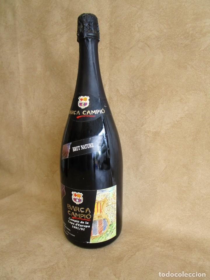 Coleccionismo de cava: botella cava barça campeon copa europa 1991 1992 1,5 litros - Foto 2 - 129388003