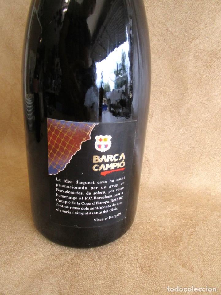 Coleccionismo de cava: botella cava barça campeon copa europa 1991 1992 1,5 litros - Foto 5 - 129388003