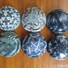 Coleccionismo de cava: LOTE DE 6 PLACAS CHAPAS DE CAVA OLIMER-EFECTOS OPTICOS- CATALOGADAS XAPES.NET. Lote 135933670