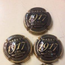 Coleccionismo de cava: CHAPA CAVA BRUT NATURE RESERVA 1917 MASET. Lote 145112230