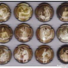 Coleccionismo de cava: SERIE COMPLETA DE 12 PLACAS DE CAVA BALANDRAU DE MUJERES DESNUDAS (NUDE-DESNUDO-WOMAN). Lote 148044234