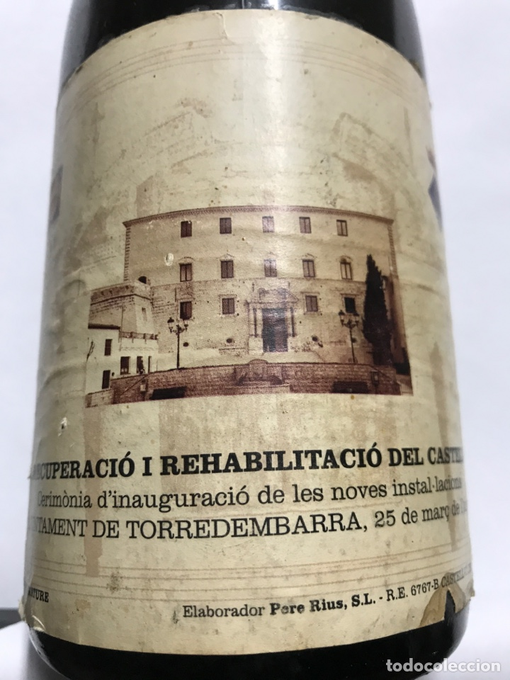 Coleccionismo de cava: BOTELLA DE CAVA PERE RIUS. AJUNTAMENT DE TORREDEMBARRA - Foto 4 - 151010714