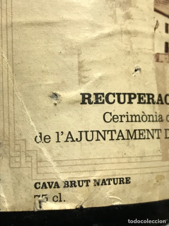 Coleccionismo de cava: BOTELLA DE CAVA PERE RIUS. AJUNTAMENT DE TORREDEMBARRA - Foto 6 - 151010714