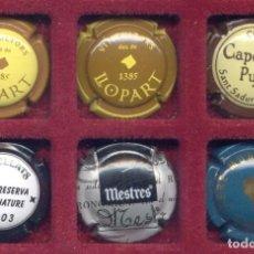 Coleccionismo de cava: CAVA PLACA LOTE 13 - 6 CHAPAS DIVERSAS MARCAS - XAPA CHAPA CAPSULE CAP. Lote 157851466